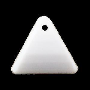 Pietra Pendente Triangolo White Opaque MA08-54 - Crystal Stones