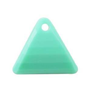 Pietra Pendente Triangolo Chrysolite Opaque MA08-F25 - Crystal Stones