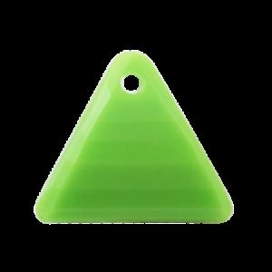 Pietra Pendente Triangolo Olivine Opaque MA08-F26 - Crystal Stones
