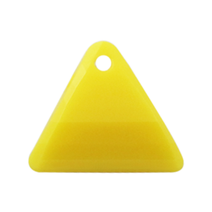 Pietra Pendente Triangolo Yellow Opaque MA08-F31 - Crystal Stones