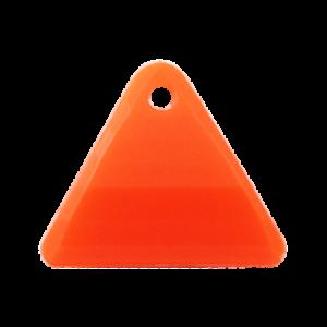 Pietra Pendente Triangolo Orange Fluo Opaque MA08-F33- Crystal Stones