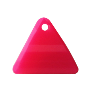 Pietra Pendente Triangolo Rose Fluo Opaque MA08-F34 - Crystal Stones