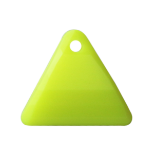 Pietra Pendente Triangolo Yellow Fluo Opaque MA08-F35 - Crystal Stones
