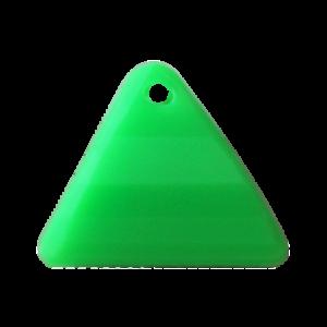 Pietra Pendente Triangolo Green Fluo Opaque MA08-F36 - Crystal Stones