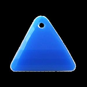 Pietra Pendente Triangolo Capri Blue Opaque MA08-F37 - Crystal Stones