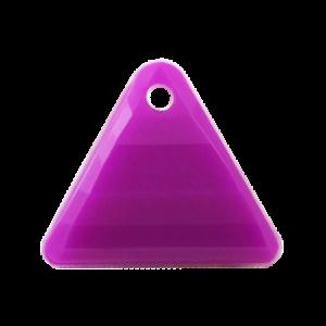 Pietra Pendente Triangolo Purple Opaque MA08-F38 - Crystal Stones