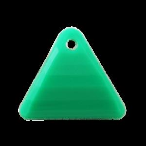Pietra Pendente Triangolo Emerald Opaque MA08-F48 - Crystal Stones
