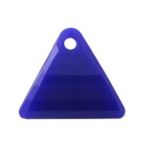 Pietra Pendente Triangolo Blue Opaque MA08-F6 - Crystal Stones
