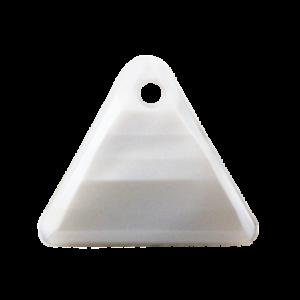 Pietra Pendente Triangolo Light Gray Pearl MA08-P19 - Crystal Stones