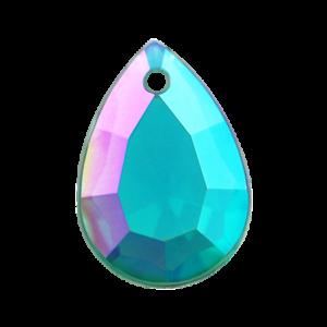 Pietra Pendente Goccia Emerald AB MA10-A6X - Crystal Stones