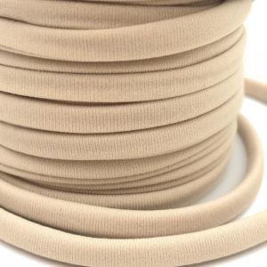 Cordoncino elastico Beige in fibra e gomma 5 mm - Venduto a metro - Crystal Stones