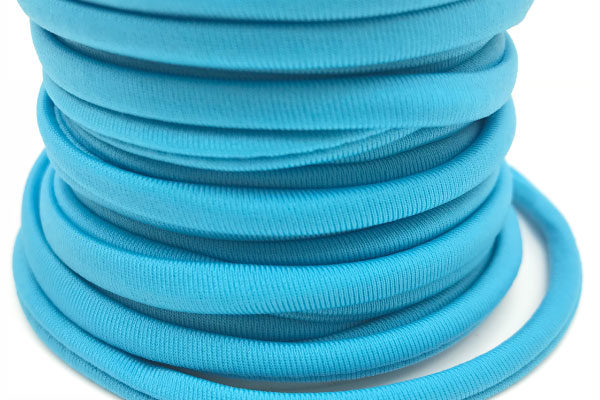 Cordoncino elastico Celeste in fibra e gomma 5 mm - Venduto a metro - Crystal Stones