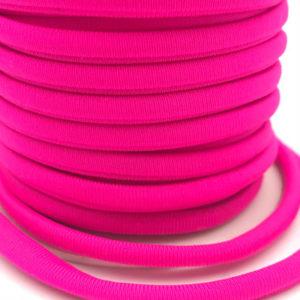 Cordoncino elastico Fucsia in fibra e gomma 5 mm - Venduto a metro - Crystal Stones
