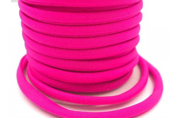 Cordoncino elastico Fucsia in fibra e gomma 5 mm – Venduto a metro – Crystal Stones