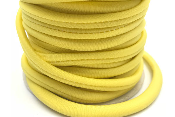Cordoncino elastico Giallo in fibra e gomma 5 mm - Venduto a metro - Crystal Stones