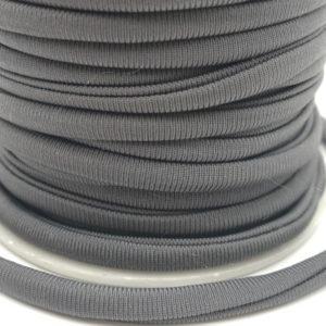 Cordoncino elastico Grigio in fibra e gomma 5 mm - Venduto a metro - Crystal Stones
