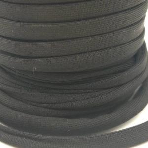 Cordoncino elastico Nero in fibra e gomma 5 mm - Venduto a metro - Crystal Stones