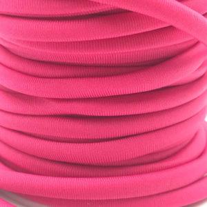 Cordoncino elastico Rosa Fluo in fibra e gomma 5 mm - Venduto a metro - Crystal Stones