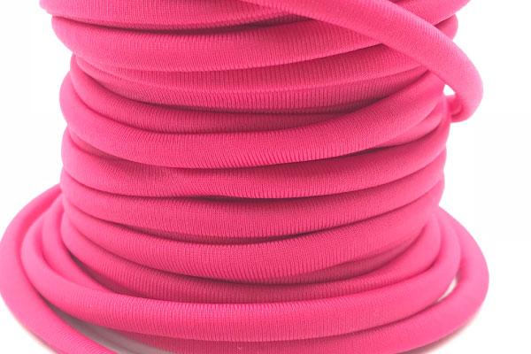 Cordoncino elastico Rosa Fluo in fibra e gomma 5 mm – Venduto a metro – Crystal Stones