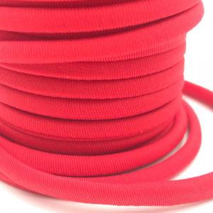 Cordoncino elastico Rosso in fibra e gomma 5 mm - Venduto a metro - Crystal Stones