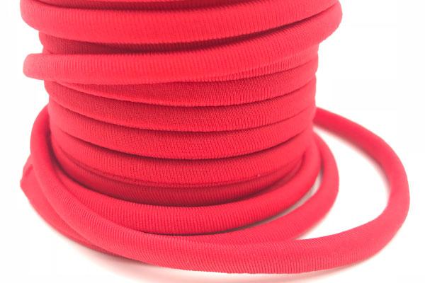 Cordoncino elastico Rosso in fibra e gomma 5 mm – Venduto a metro – Crystal Stones