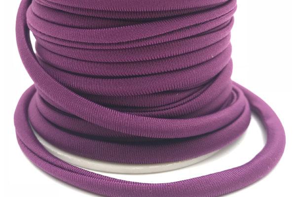 Cordoncino elastico Viola in fibra e gomma 5 mm – Venduto a metro – Crystal Stones