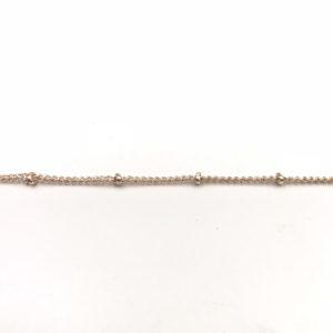 Catena groumette Gold con pallina, spessore 1 x 1 mm - Venduta a metro - Crystal Stones
