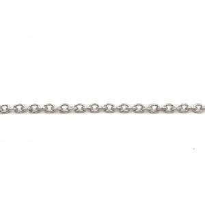 Catena forzatina Silver ovale, spessore 4,2 x 3 mm - Venduta a metro - Crystal Stones