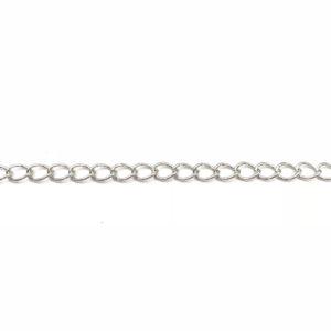 Catena groumette Silver ovale, spessore 5,5 x 4 mm - Venduta a metro - Crystal Stones