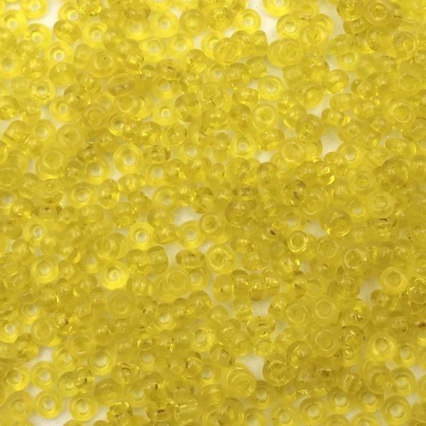 Rocailles Trasparente Citrine 11/0 - Confezione 10gr - Crystal Stones