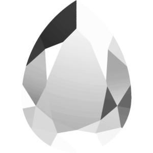Fancy stone - Crystal Stones - Pietra di Forma Goccia Jet Hematite - 190