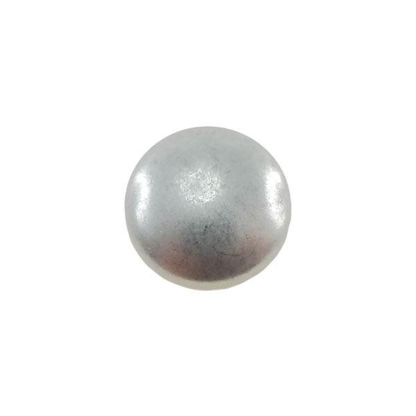 Borchia Tonda Anti Silver 8mm Termoadesiva Piatta - In metallo - C004-AS - Crystal Stones