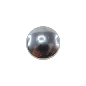 Borchia Tonda Hematite 8mm Termoadesiva Piatta - In metallo - C004-H - Crystal Stones
