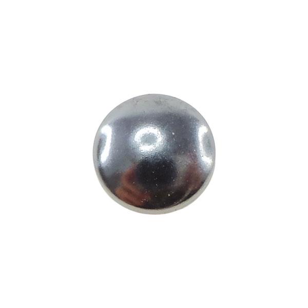 Borchia Tonda Hematite 8mm Termoadesiva Piatta – In metallo – C004-H – Crystal Stones