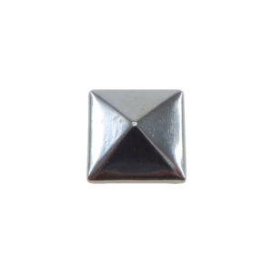 Borchia Piramidale Hematite 7mm Termoadesiva Piatta - In metallo - C015-H - Crystal Stones