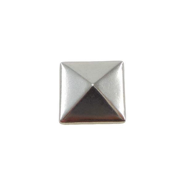 Borchia Piramidale Silver 7mm Termoadesiva Piatta - In metallo - C015-S - Crystal Stones