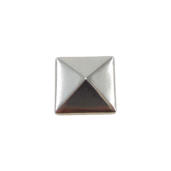 Borchia Piramidale Silver 7mm Termoadesiva Piatta – In metallo – C015-S – Crystal Stones