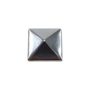 Borchia Piramidale Hematite 10mm Termoadesiva Piatta - In metallo - C016-H - Crystal Stones