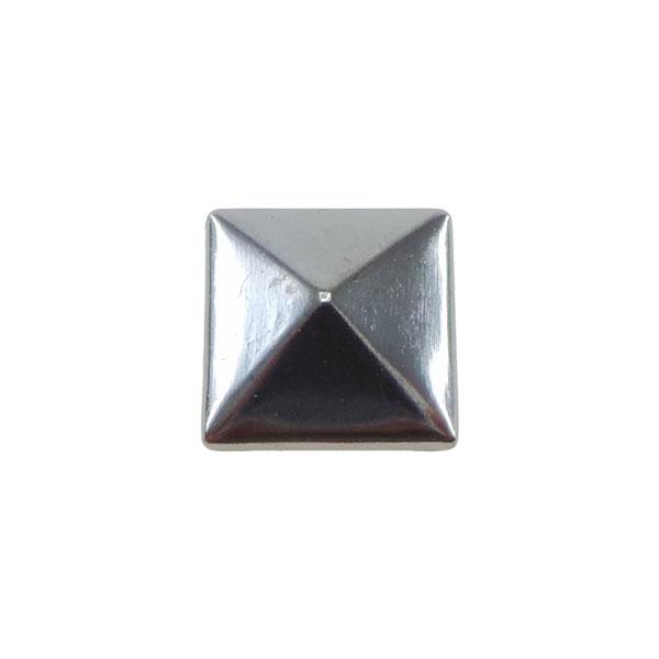 Borchia Piramidale Hematite 10mm Termoadesiva Piatta – In metallo – C016-H – Crystal Stones