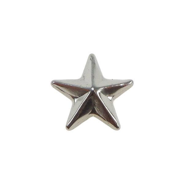 Borchia Stella Silver 10mm Termoadesiva Piatta - In metallo - C026-S - Crystal Stones