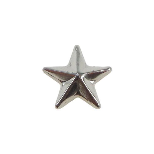 Borchia Stella Silver 10mm Termoadesiva Piatta – In metallo – C026-S – Crystal Stones