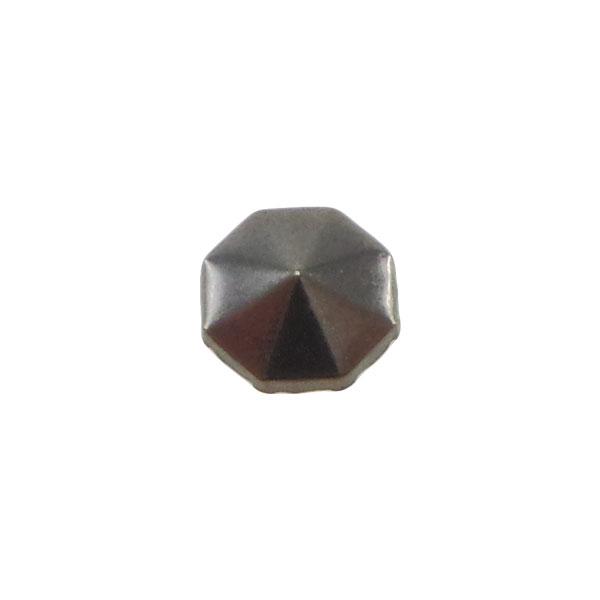 Borchia Ottagonale Hematite 6mm Termoadesiva Piatta – In metallo – C029-HE – Crystal Stones
