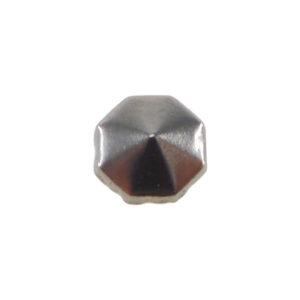 Borchia Ottagonale Hematite 8mm Termoadesiva Piatta - In metallo - C030-HE - Crystal Stones