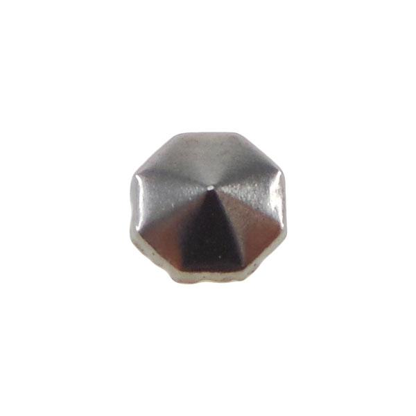 Borchia Ottagonale Hematite 8mm Termoadesiva Piatta – In metallo – C030-HE – Crystal Stones