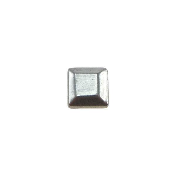 Borchia Quadrata Silver 5mm Termoadesiva Piatta - In metallo - C034-S - Crystal Stones