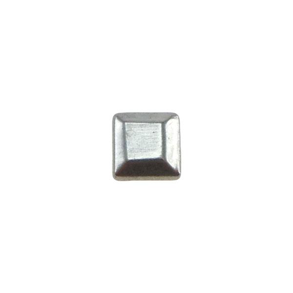 Borchia Quadrata Silver 5mm Termoadesiva Piatta – In metallo – C034-S – Crystal Stones
