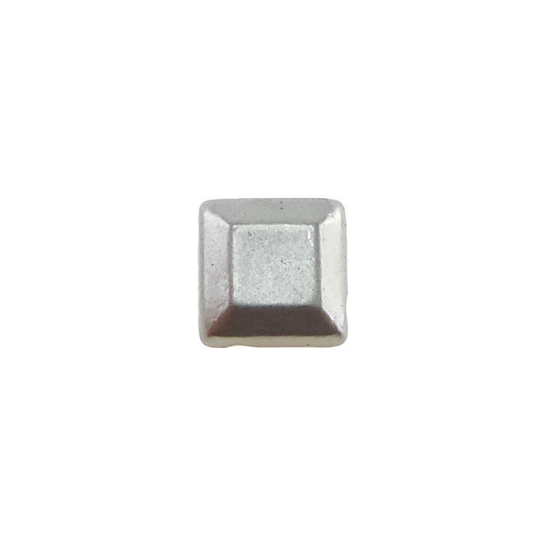 Borchia Quadrata Anti Silver 6mm Termoadesiva Piatta - In metallo - C035-AS - Crystal Stones
