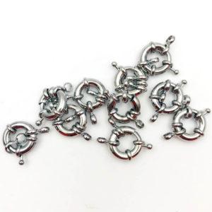 Chiusura anello a molla Silver 13mm - CL0113 - Crystal Stones