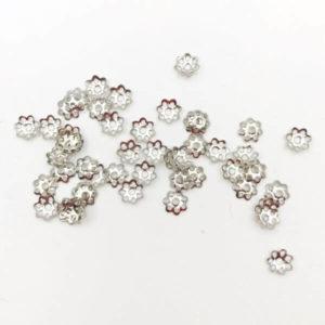 Coppetta fiore Silver 6mm - CP0006 - Crystal Stones