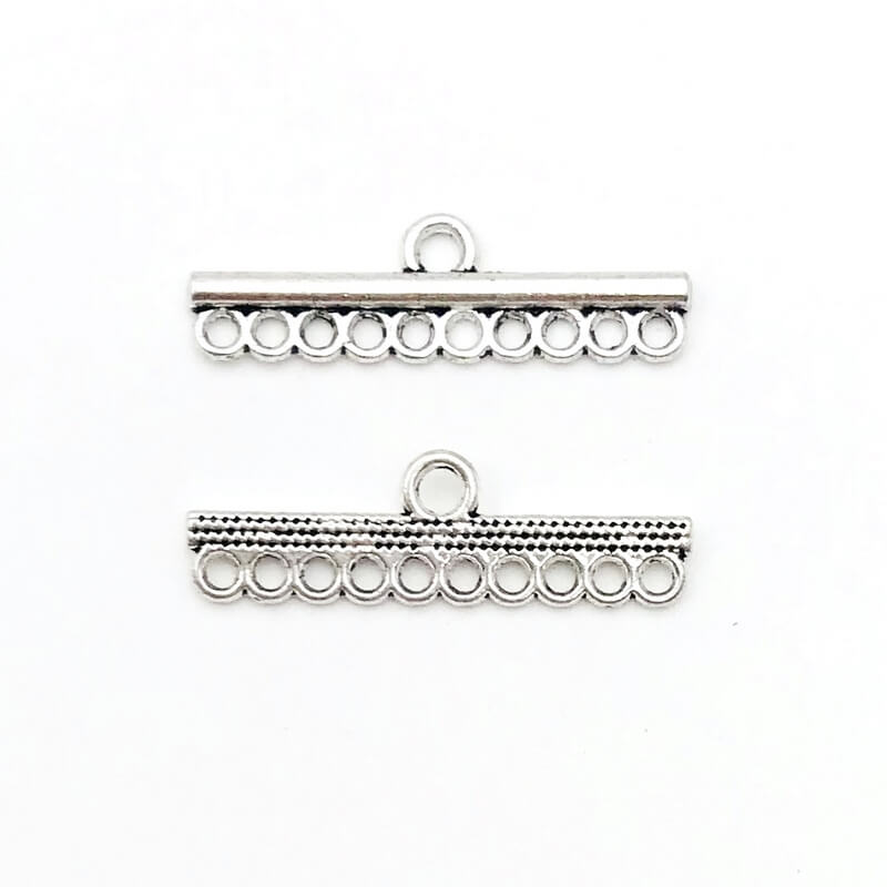 Link barra Anti Silver 24,7mm – LK00247 – Crystal Stones